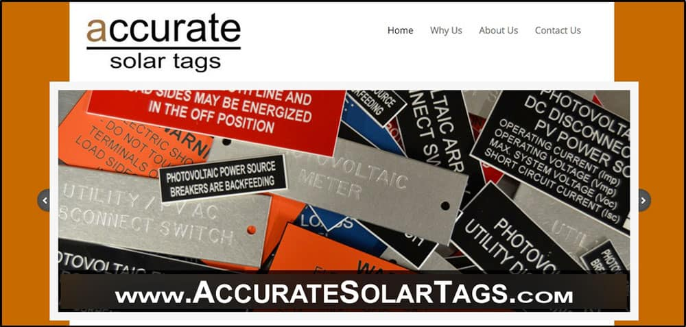 Accurate Solar Tags and Signs - Bulk and Overnight Available