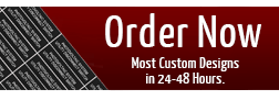 Click to order custom tags, signs, plates, plaques now.