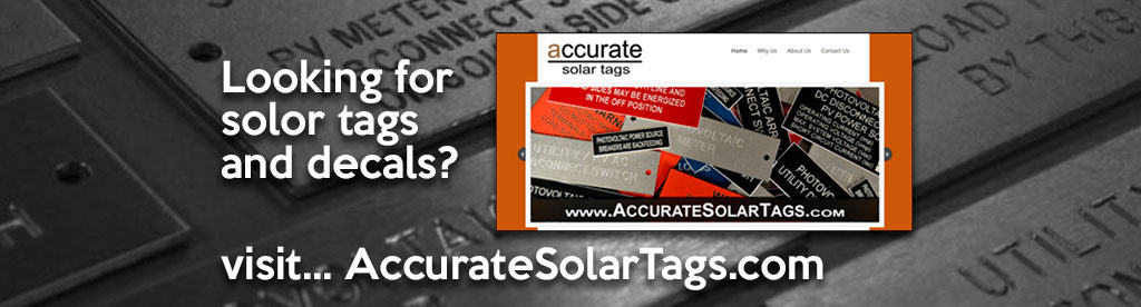 Accurate Solar Tags - Visit Our Website